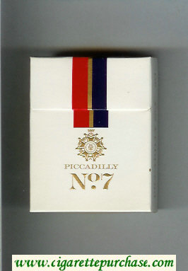 Piccadilly No 7 cigarettes hard box