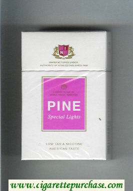 Pine Special Lights American Taste cigarettes hard box
