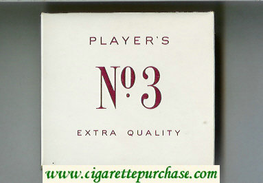 Player's No 3 Extra Quality cigarettes wide flat hard box