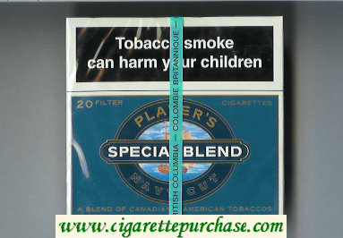 Player's Navy Cut Special Blend blue cigarettes wide flat hard box