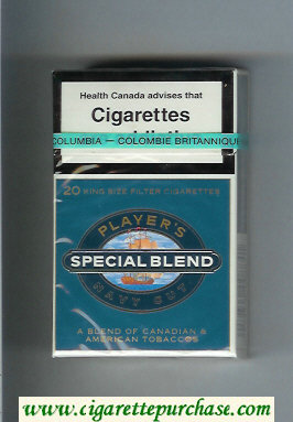 Player's Navy Cut Special Blend blue cigarettes hard box