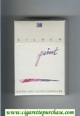 Point Silver Extra Light cigarettes hard box