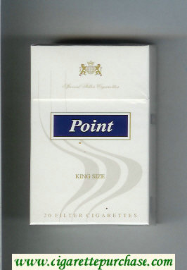 Point King Size cigarettes hard box
