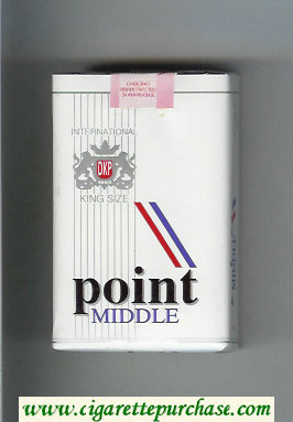 Point Middle King Size cigarettes soft box