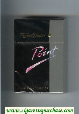 Point Light cigarettes hard box