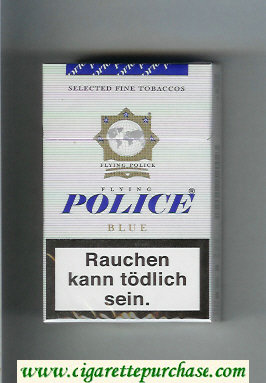 Police Flying Blue cigarettes hard box