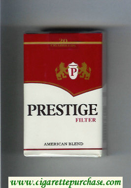 Prestige Filter American Blend cigarettes soft box
