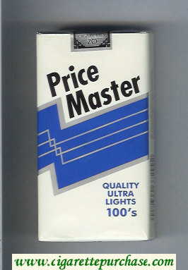Price Master Quality Ultra Lights 100s cigarettes soft box