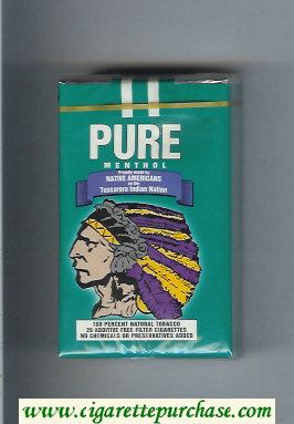 Pure Menthol cigarettes soft box