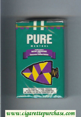 Pure Menthol soft box cigarettes