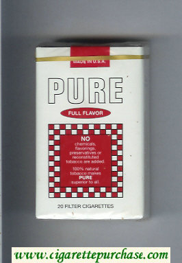 Pure Full Flavor soft box cigarettes