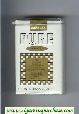 Pure Lights filter cigarettes soft box