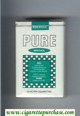 Pure Menthol filter cigarettes soft box