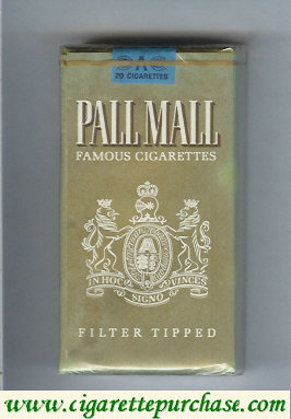 Pall Mall Famous Cigarettes Filter Tipped gold 100s cigarettes soft box
