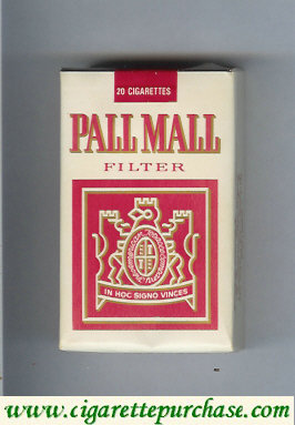 Pall Mall Filter white and red cigarettes soft box