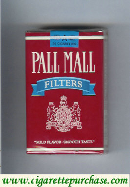 Pall Mall Filters red and blue cigarettes soft box