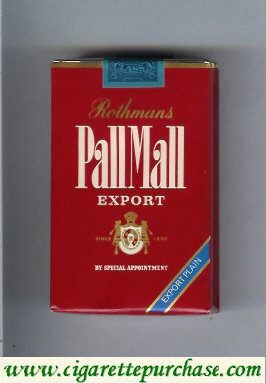 Pall Mall Rothmans Export Export Plain cigarettes soft box
