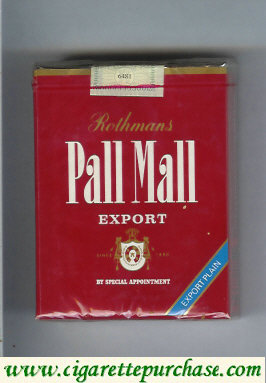 Pall Mall Rothmans Export Export Plain red 25s cigarettes soft box