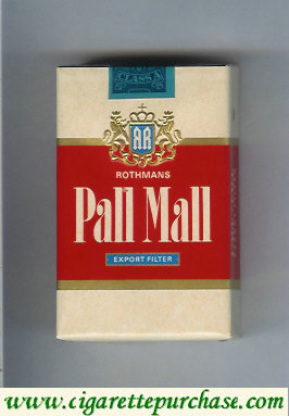 Pall Mall Rothmans Export Filter cigarettes soft box