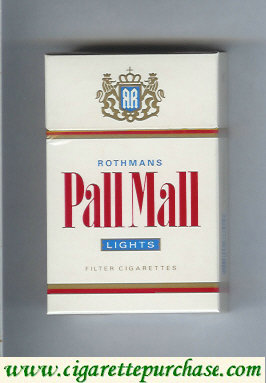 Pall Mall Rothmans Lights cigarettes hard box