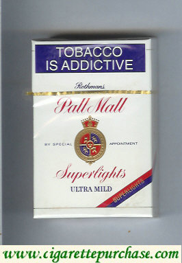 Pall Mall Rothmans Superlights Ultra Mild cigarettes hard box