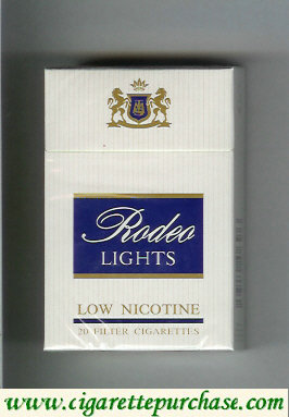 Rodeo Lights cigarettes hard box
