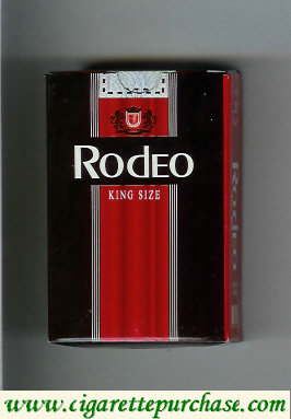 Rodeo King Size cigarettes black and red hard box