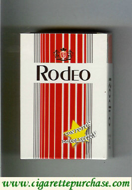 Rodeo cigarettes white and red hard box
