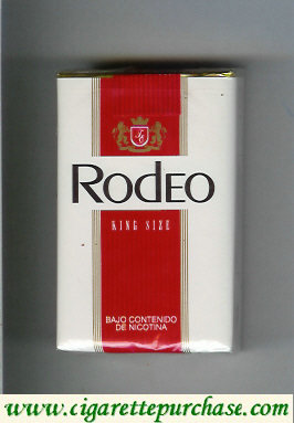 Rodeo cigarettes white and red soft box