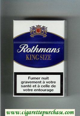 Discount Rothmans King Size By Special Appointment cigarettes white and blue hard box