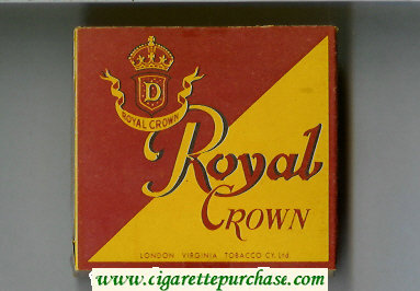 Royal Crown cigarettes wide flat hard box