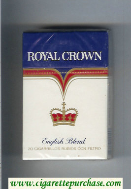 Royal Crown English Blend cigarettes hard box