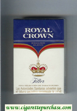 Royal Crown Filter English Blend cigarettes hard box