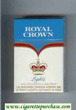 Royal Crown Lights English Blend cigarettes hard box