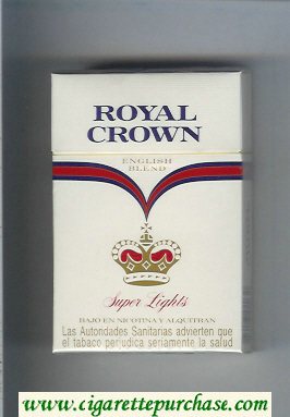 Royal Crown Super Lights English Blend cigarettes hard box
