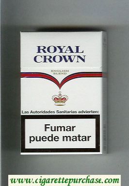 Royal Crown English Blend cigarettes white and white hard box