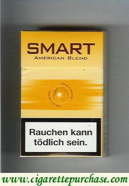 Smart American Blend cigarettes brown hard box