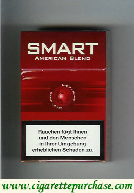 Smart American Blend cigarettes red hard box