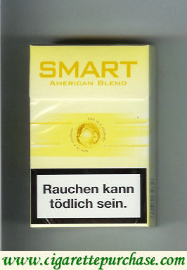 Smart American Blend cigarettes yellow hard box