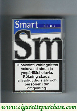 Smart Blue cigarettes Smooth Taste hard box