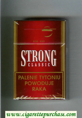 Strong Classic cigarettes red hard box
