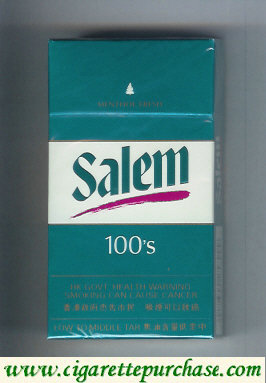 Salem 100s Menthol Fresh with red line cigarettes hard box