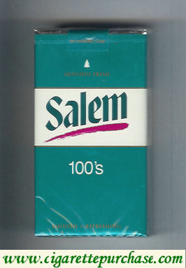 Salem 100s Menthol Fresh with red line cigarettes soft box