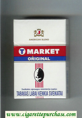 T Market Original American Blend cigarettes hard box