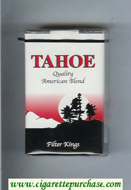Tahoe Quality American Blend Filter Kings cigarettes soft box