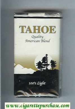 Tahoe Quality American Blend 100s Light cigarettes soft box