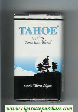 Tahoe Quality American Blend 100s Ultra Light cigarettes soft box