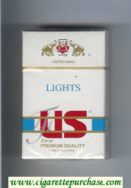 US Lights First Premium Quality cigarettes hard box