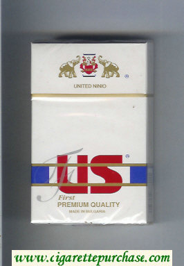 US First Premium Quality cigarettes hard box
