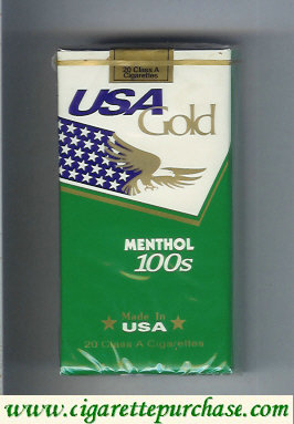 Discount USA Gold Menthol 100s cigarettes soft box